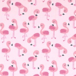 FLAMINGOLICIOUS ON MINKY  - Contact your account manager to purchase this item