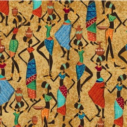 AFRICAN WOMAN ON MINKY