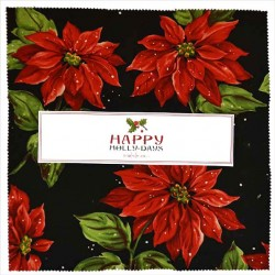 "HAPPY HOLLY-DAYS 10"" Squares - 42 pcs. - comes in a case of 5"
