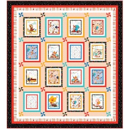 """And the Band Plays on Coral Quilt by Wendy Sheppard / 79""""87"""""""