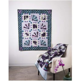 """Angelina Fans Quilt by Heidi Pridemore  /46""""x58"""""""