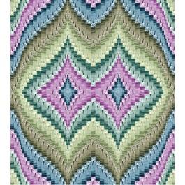 "Strata Bargello basil Quilt by Carl Hentsch of 3dogdesignco  /83-3/4""x94"""