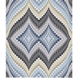 """Strata Bargello Graphite Quilt by Carl Hentsch of 3dogdesignco  /83-3/4""""x94"""""""
