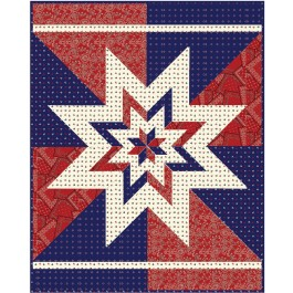 "Big Star Chevron Quilt by Hunter's Design Studio / 58""x74"""