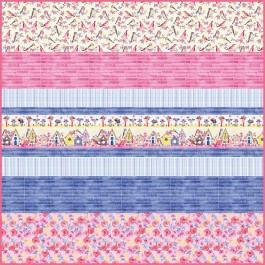 Birdsong MINKY Strip Quilt