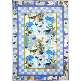 Bleu Paris Quilt by Marinda Stewart