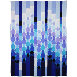 Blue Raindot Bargello  by Marinda Stewart