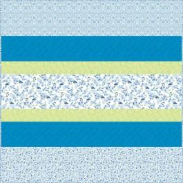 Bluebird MINKY Strip Quilt