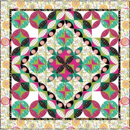 "Bohemian Peels Quilt by Material Girlfriends Patterns  /63""x63"""