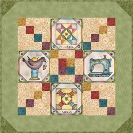 """Born to Sew Quilt  by Jackie Patton /24""""x24"""""""