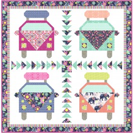 """Girl's Trip Quilt by Natalie Crabtree /77""""x78"""""""