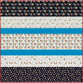"""Camping Life MINKY Strip Quilt 57""""x57"""""""
