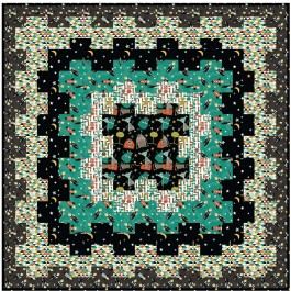 """Cogs in Space Nite Quilt by Lisa Swenson Ruble /52""""x52"""""""