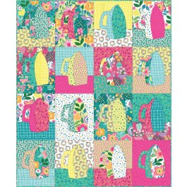 """Irony Colorful Cottage Quilt by Everyday Stitches - 40""""x48"""""""