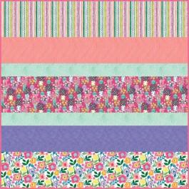 Colorful Cottage MINKY Strip Quilt