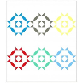 """Rosettes Cotton Couture Quilt by Susan Emory /54""""x63"""""""