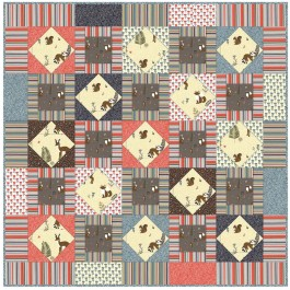 """Critter Tails Quilt by Debby Kratovil /48""""x48"""""""