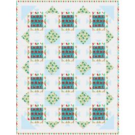 "Deck the Halls Quilt by Natalie Crabtree /55""x71-3/4"""