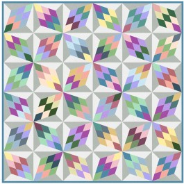 "Diamonds Quilt by Marsha Moore /49""x49"""