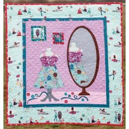 "Little Sewists Dressmaking Quilt by Heidi Pridemore /37""x39.5"""