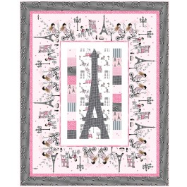 """Eiffel Tower Quilt by Wendy Sheppard /49""""x61"""""""