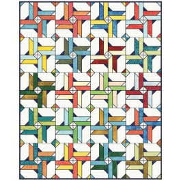 """Fairy Frost Give it a Whirl - Crayon Box Quilt by Sam Hunter of Hunter's Design Studio /64""""x80"""""""