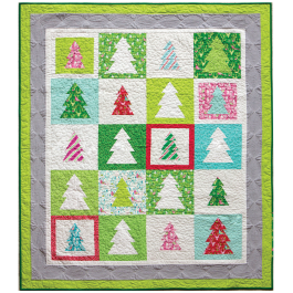 Festive Forest Quilt by Patty Sloniger / 41x56""