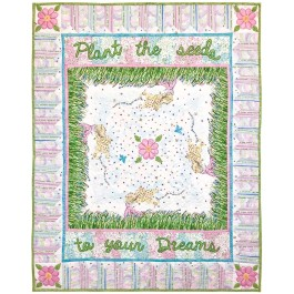 "Flower Girl Quilt by Marinda Stewart /41""x51"""