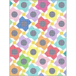 "Flower MArket Quilt by Charisma Horton /72""x98"""