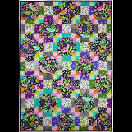 "Folk Birds and Flowers by Marinda Stewart / 40x56"""