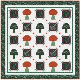"""Forest Findings Quilt by Natalie Crabtree /72""""x72"""""""