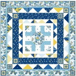"Provencial French Provencial Blue Quilt by Heidi Pridemore /58""x58"""