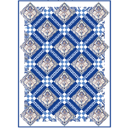 French Tile Quilt by Emily Herrick