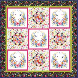 """Garden Party Quilt by Heidi Pridemore / 73x73"""""""