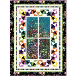 "Garden View Quilt by Wendy Sheppard /53""x71"""
