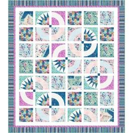 """Garden Window Quilt by Wendy Sheppard /75.5""""x86"""""""