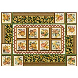 "Making it Work Table Cover Grateful by Penni Domikis for Cabin in the woods Quilters 48""x68"""