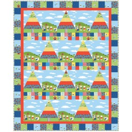 """Happy Hoedown Quilt by Heidi Pridemore /56""""x70"""" - Instructions Coming Soon"""