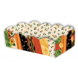 """Scalloped Basket harvest tribute by Kristine Poor 5-1/2"""" wide x 12"""" long x 3-1/2"""" deep"""