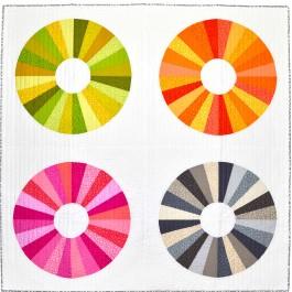 "Four Eyes Quilt by Tamara Kate /62-1/2""x62-1/2"""