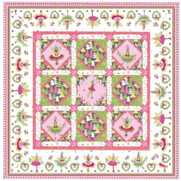 "Magic Pixie Quilt by Marsha Moore /51""x51"""