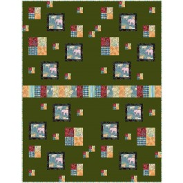 """Row House Jungle Vibes Quilt by Kate Colleran 46""""x60"""""""