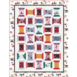 "Just Spoolin' Quilt by Wendy Sheppard /53.5""x59.5"""