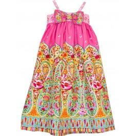 Kashmir Gardens Simple Bow Dress
