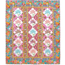 "Kashmir Blooms Quilt by Marsha Moore /53.5""x63.5"""