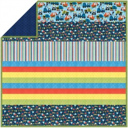 Little Movers - Minky Strip Quilt /58x58""