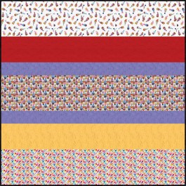 Love You Gnome-atter What MINKY Strip Quilt