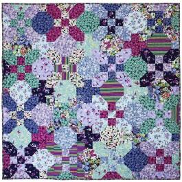 "Meadow by Tara Faughnan 57""x57"" -  featuring Sea Holly Collection"