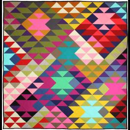 """Modern Prism Quilt by Tara  Faughnan / 60x63"""""""