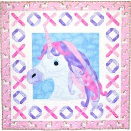 "Unicorn Kisses Quilt by Heidi Pridemore /58""x58"""
